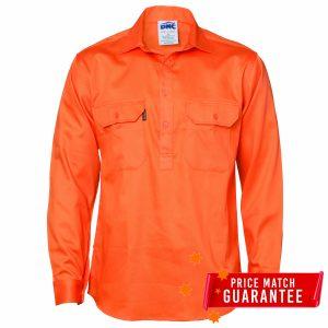 Close Front Cotton Drill Shirt Mackay Workwear