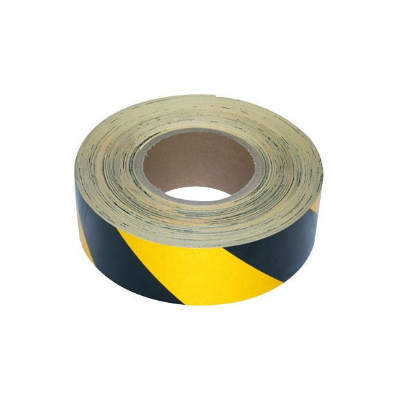 Yellow and Black Reflective Tape